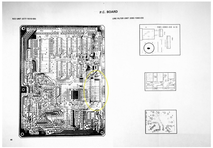 kenwood oscilloscope pcb board