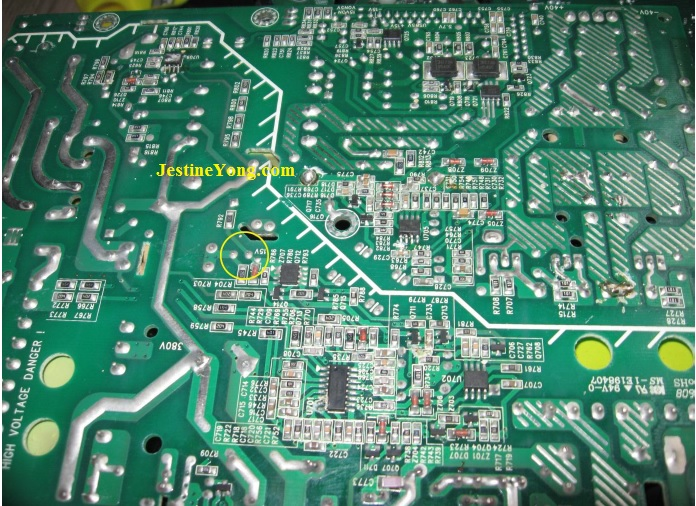 bad capacitors in harman blue ray player fix power board