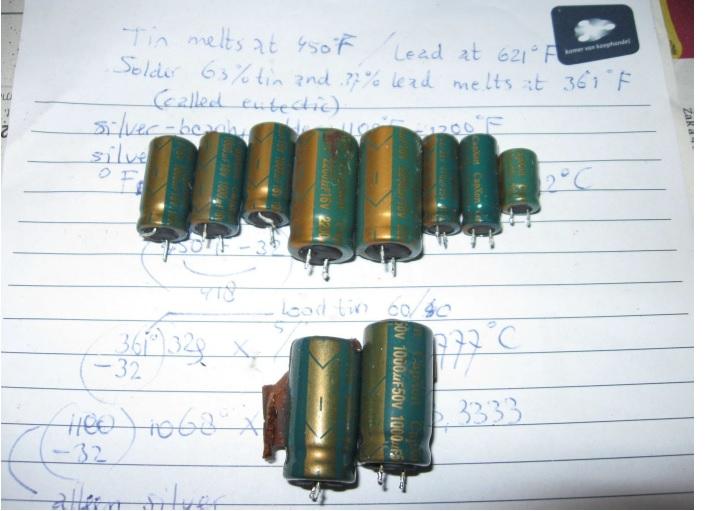 bad capacitors in harman blue ray player repair power board