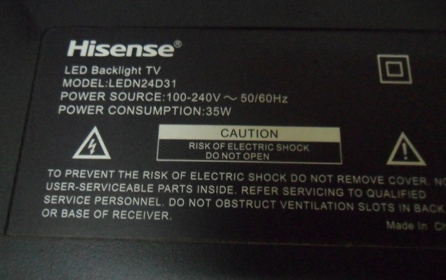 Hisense Tv Turns On But No Picture