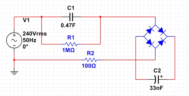 capacitive power supply schematic
