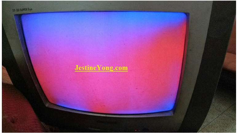 color patches in tv repair