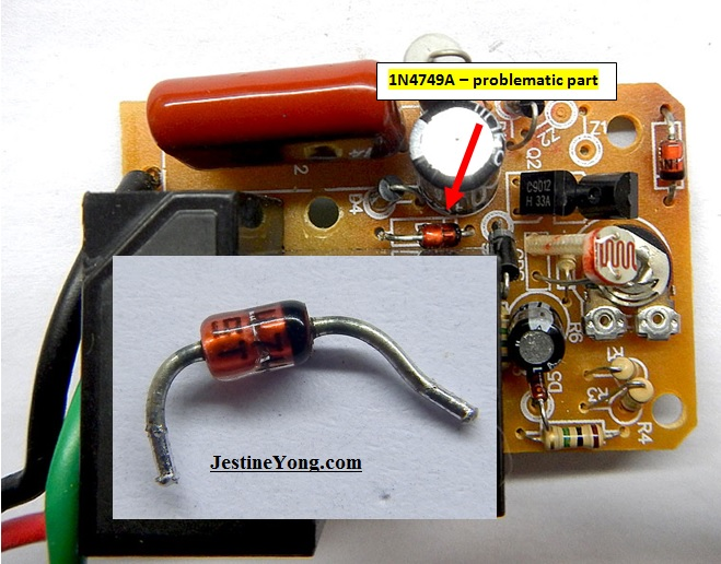 power supply zener diode faulty