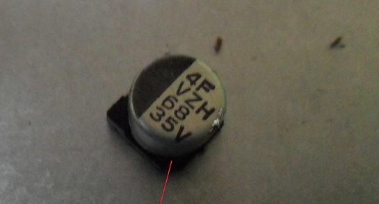 68uf 25 volt smd e-cap bad