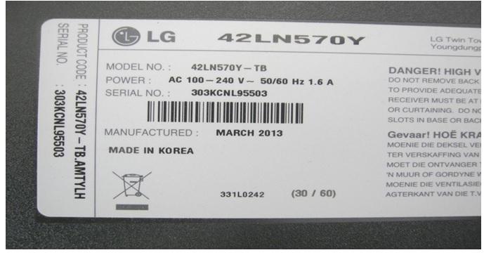 lg 42″ led tv no display repair