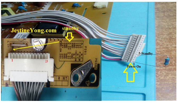 led tv ps on