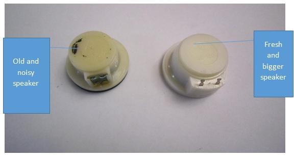 telephone speaker replace