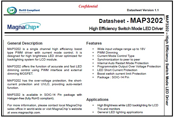 map3202 datasheet
