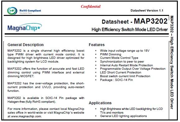 map3202 datasheet