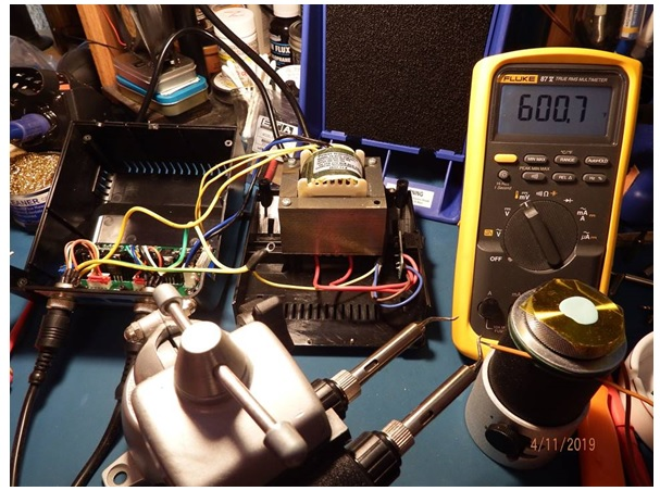 temperature check using fluke meter