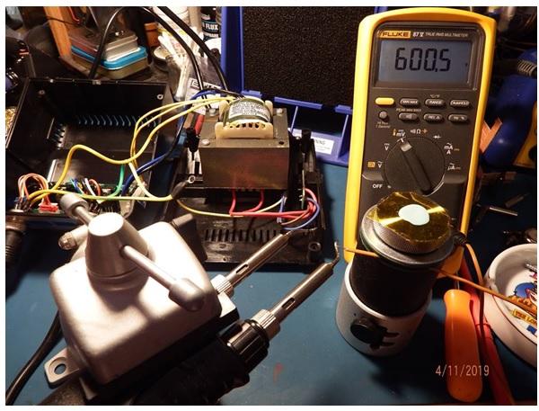 temperature check using fluke tester
