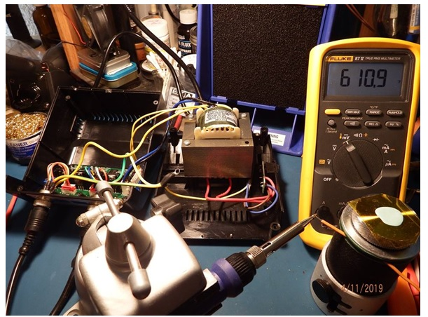 temperature test with fluke meter