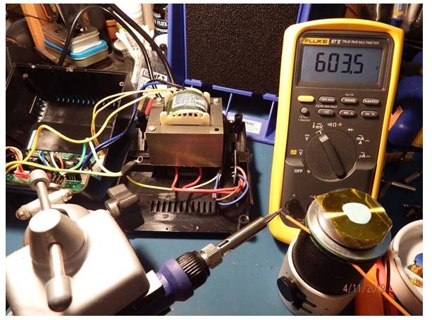 temperature feature with fluke meter