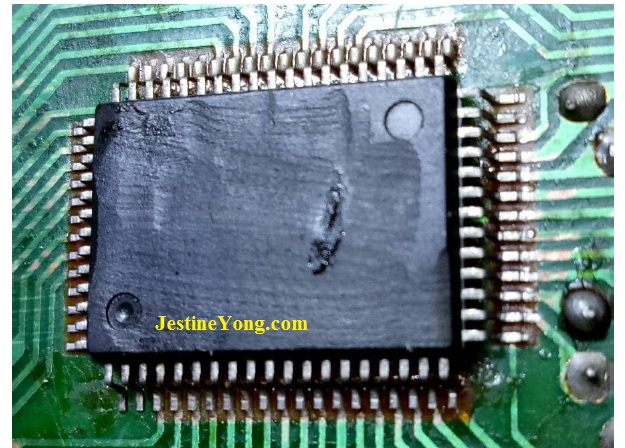 bad smd ic with many leads