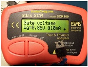 peak atlas scr triac tester