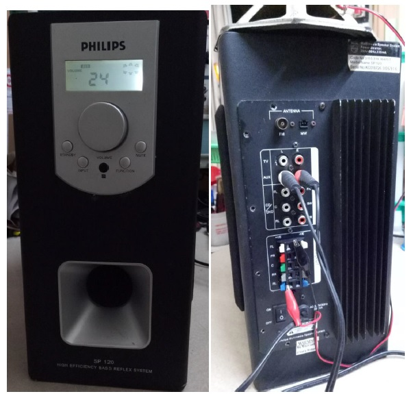 philips speaker system repaired and fixed