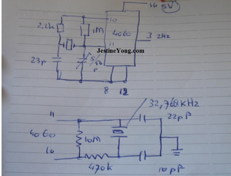 crystal diagram simulation circuit