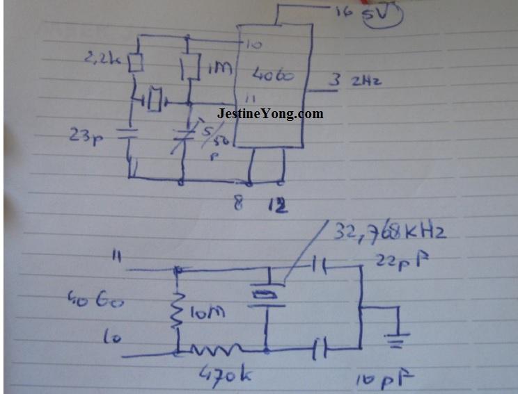 crystal diagram simulation circuit