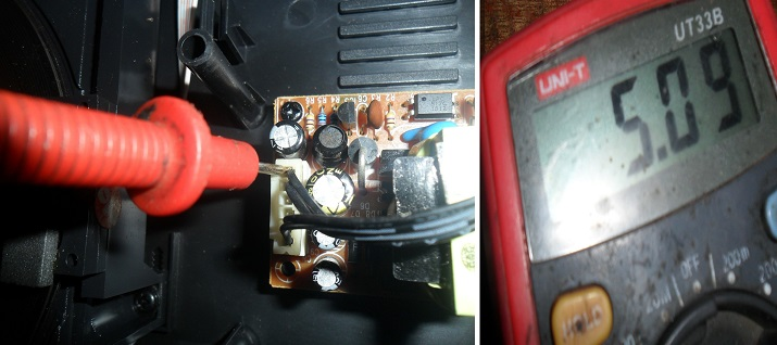 test dvd power supply output voltages