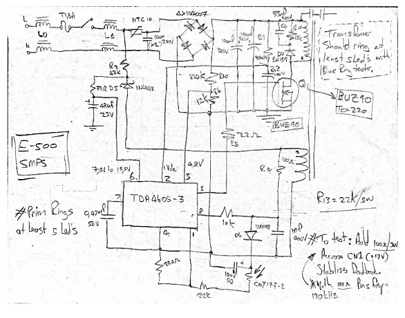 draw own power supply schematic