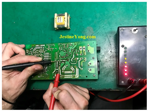 check transformer using blue ring tester