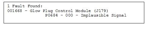 glow plug control module code