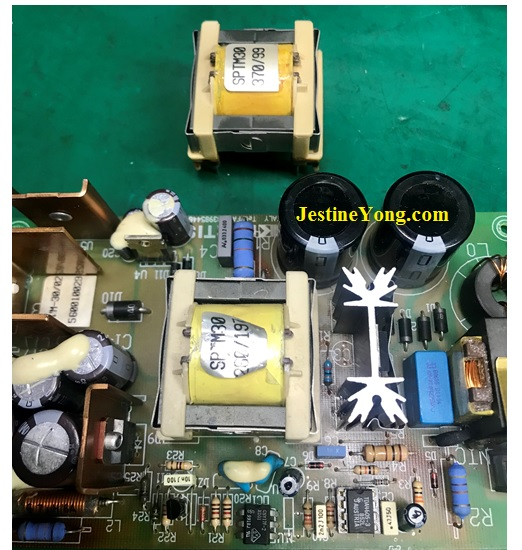 overheated smps transformer