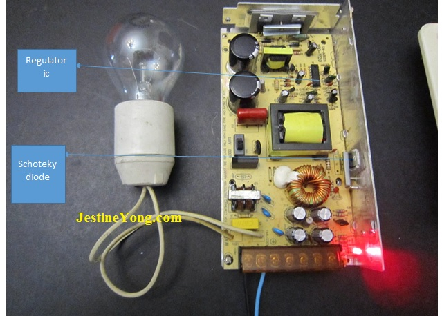 power supply series light bulb test