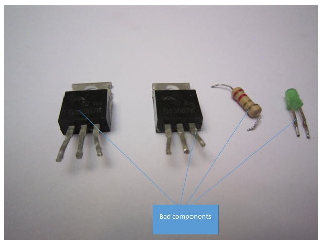 bad components in power supply