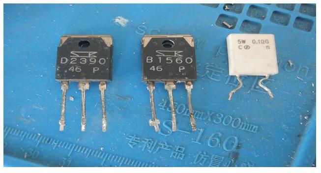 b1560 transistor bad