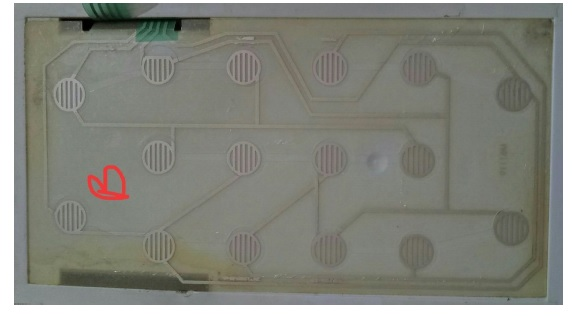 microwave oven membrane track