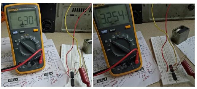 voltage comparison by meters