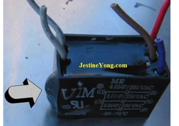 bulged capacitor