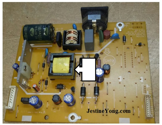 lcd monitor power supply fix