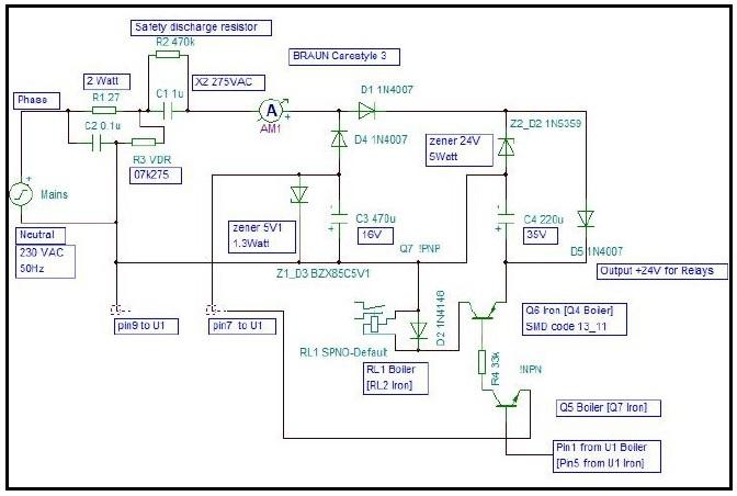 bad components in Braun steam generator iron schematic
