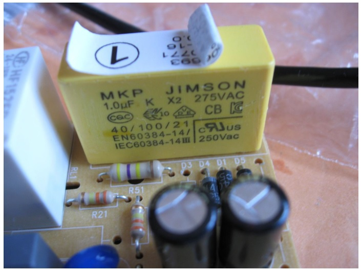 bad components in Braun steam generator iron capacitor