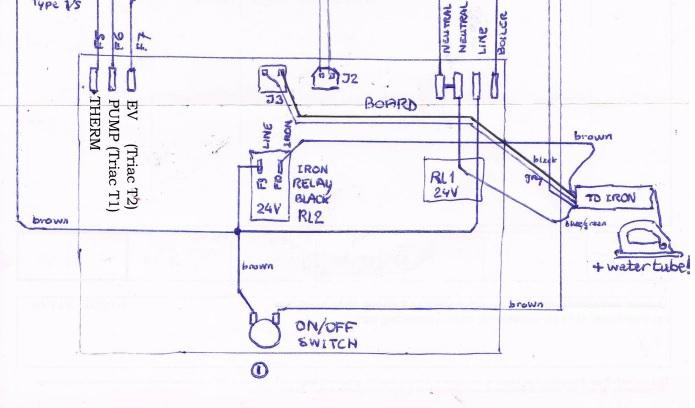Braun steam generator iron schematic diagrams