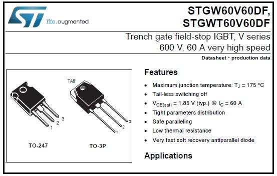 stgw60v60 datasheet