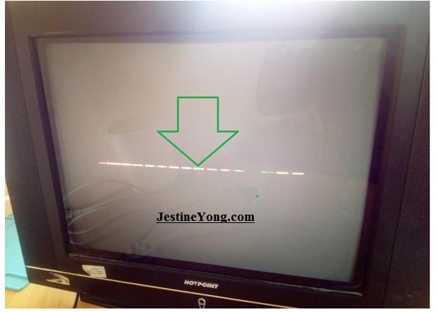 one horizontal line tv problem