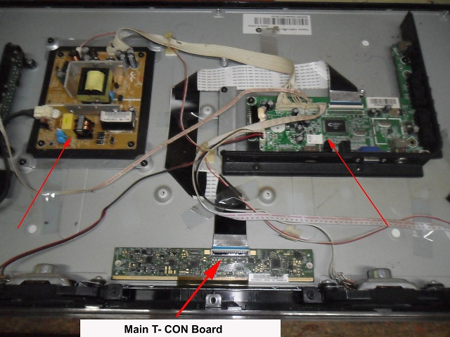lcd tv no display repaired and fixed