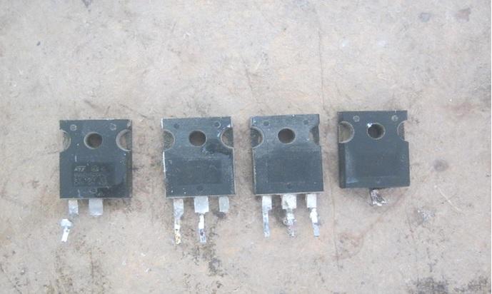shorted power fet in welding machine