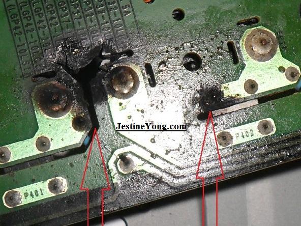 burnt inverter transformer