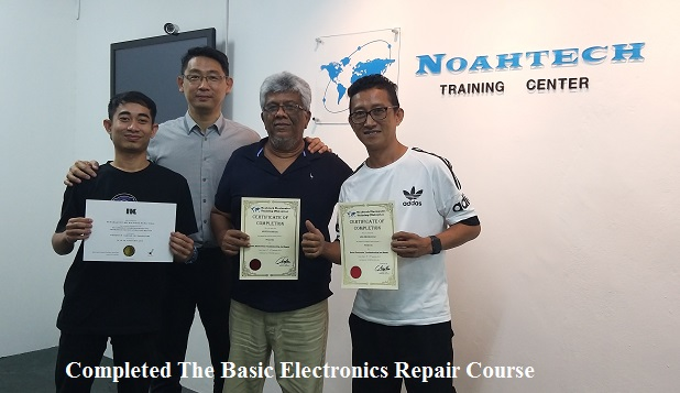Singapore and trinidad and tobago students in electronics training repair course in Malaysia