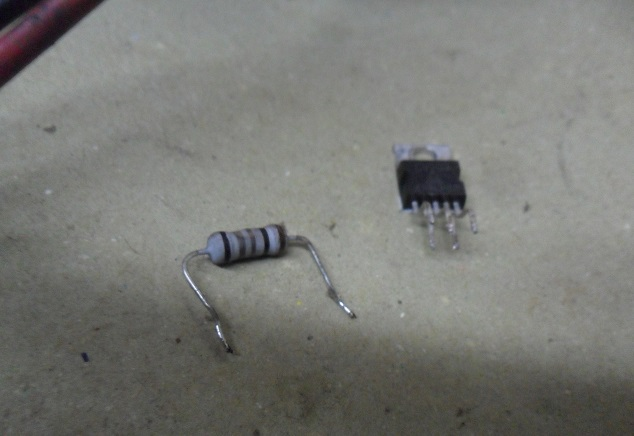 shorted sound output ic in crt tv