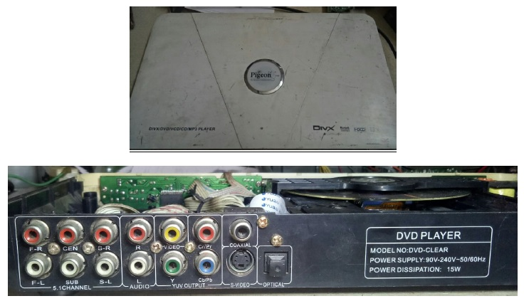 dvd player repair pigeon