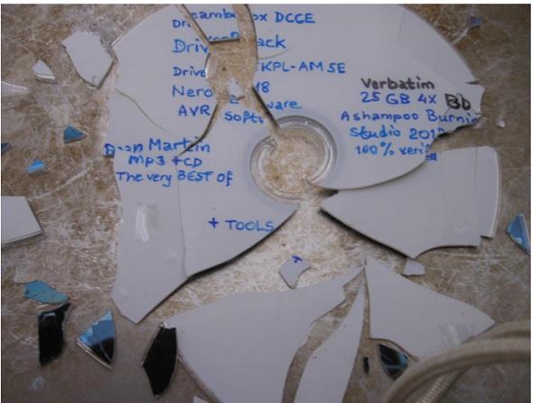 broken blu ray disc