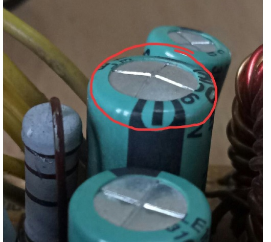 bad capacitor in atx