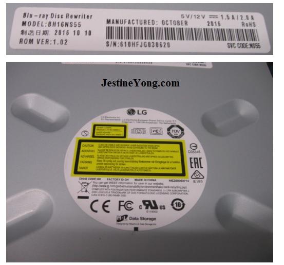 2016 Liteon BH16NS55 M-Disc compatible drive