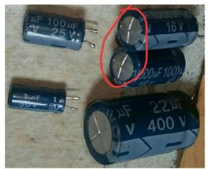 bulged capacitor replace