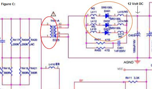 12 volt dc output missing